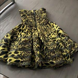 Betsey Johnson animal print party dress